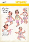 1813 Simplicity Pattern: Babies' Vintage Dress & Separates